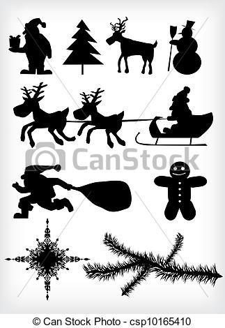 silhouette, weihnachten Vektor – Stock Illustration, Lizenzfreie Illustration, Stock Clip-Art-Symbol, Stock Clipart Piktogramm, Logo, Line Art, EPS-Bi…