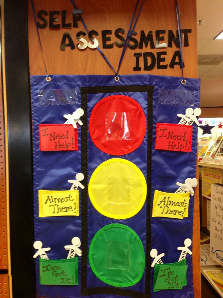 A self-assessment idea one of our teacher-employees created with a #pocketchart!