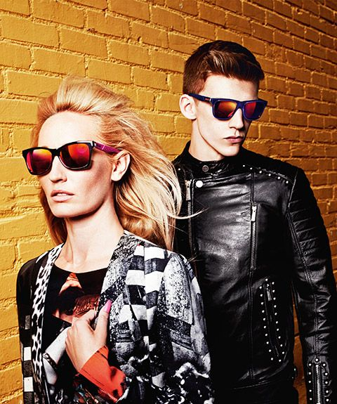Mirrored #sunglasses are all the rage these days! Seen here are models from the Just Cavalli collection. #eyewear #trend #fashion