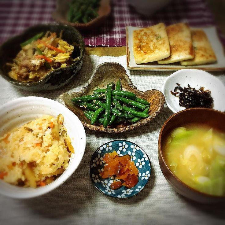 載せるの忘れてた#朝ごはん 画像  本当に #和食 だわーあこれ おとといのね 今日は #二日酔い で廃人でしたんで食べてません