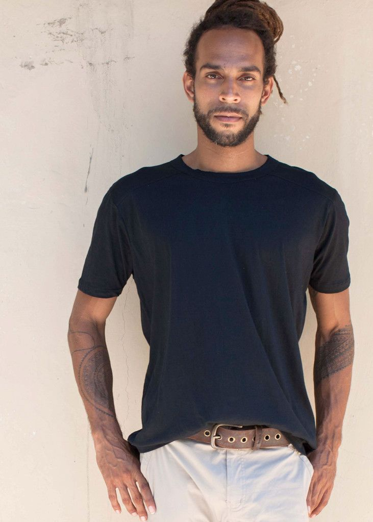 The ultimate basic mens  t shirt in 100% organic cotton.The Perfect basic t shirt to build any look from. Designed by WE-AR: ethical fashion and yoga wear, made in Bali with love. Shop online: we-ar.com