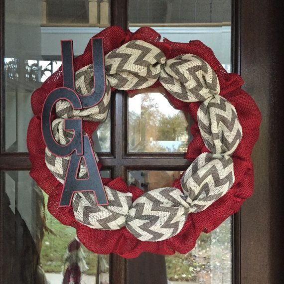 Year Round Wreath University of Georgia wreath by ADupreeDesigns