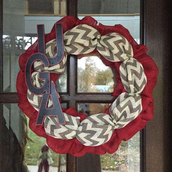 Year Round Wreath University of Georgia wreath by ADupreeDesigns