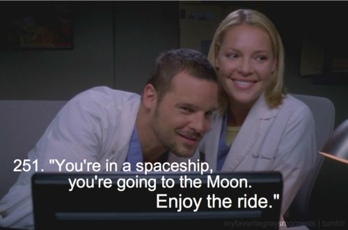 """One of my favorite Grey's moments. From season 5, ep. 79: """"Dream a Little Dream of Me (Part 1)"""""""