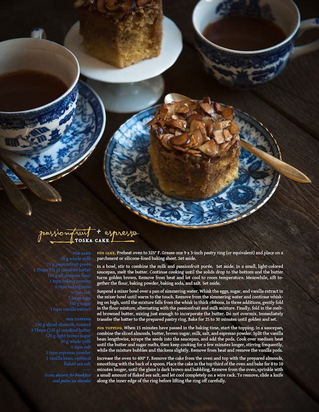 Desserts for Breakfast: Passionfruit and Espresso Tosca Cake