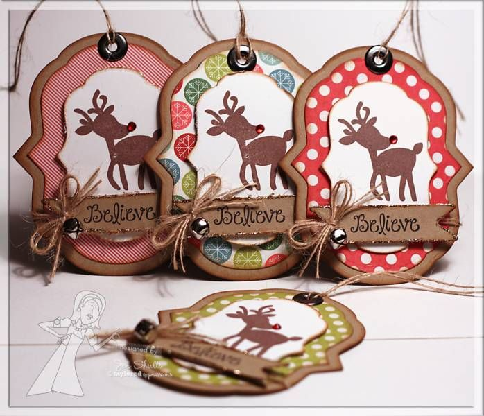 Believe Christmas Tags