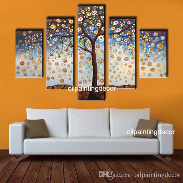 Acquista Pittura A Pitture Murali Tree Oil Moderni ...