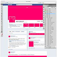 PSD for free – Facebook new fan page gui (timeline and bookmarks)