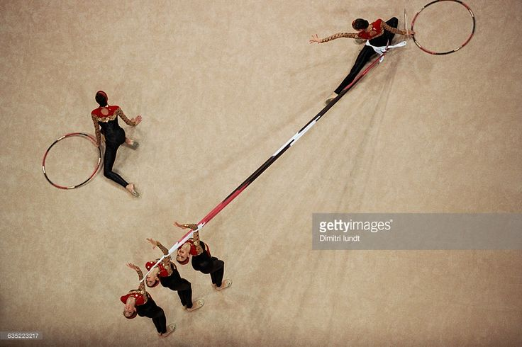 Bulgaria's team during groups all-around final of the 2000 Olympics.