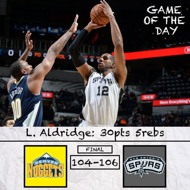 Game of the Day: Nuggets vs Spurs. Is Dejounte Murray a future all-star? Read and Comment Below  .-.-.-.-.-.-.-. Dang. The Nuggets have gotten hit very hard with a tough back-to-back which is probably killing their momentum. About ten games ago the Nuggets were really struggling to get anything going and were quickly losing playoff hope but then they turned things around with three straight wins only to lose twice to the Celtics and Spurs. However the Nuggets have proven their extreme talent…