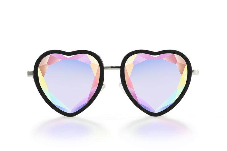 All we need is love!...And heart-shaped crystal glasses? As part of our see-thru collection, these BBs have a flat center for easy viewing and faceted edges to put just enough of a twinkle in your eye
