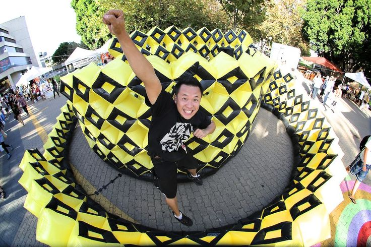 Beehive kickstart Festival 2013, Perth, WA Propel Youth Arts, Artist Calvin Chee ,Inflatable Sculpture Public Art