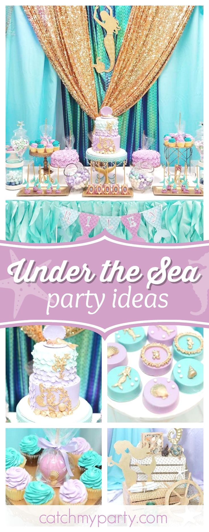 Take a look at this wonderful Under the Sea Baby Shower! The cake is amazing!! See more party ideas and share yours at CatchMyParty.com #partyideas #catchmyparty #underthesea #babyshower