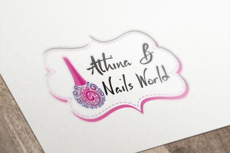 Λογότυπο Athina B Nails World