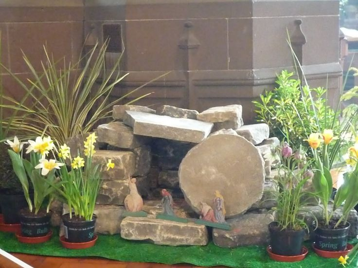 17 best images about miniature easter garden on pinterest for Easter garden designs