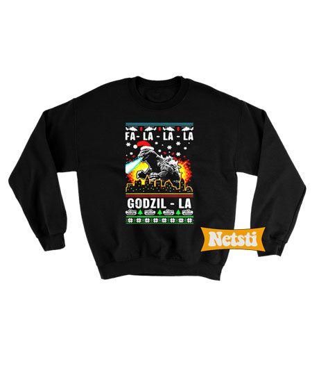 Godzilla Ugly Christmas Sweatshirt This Year Godzilla Sweatshirt