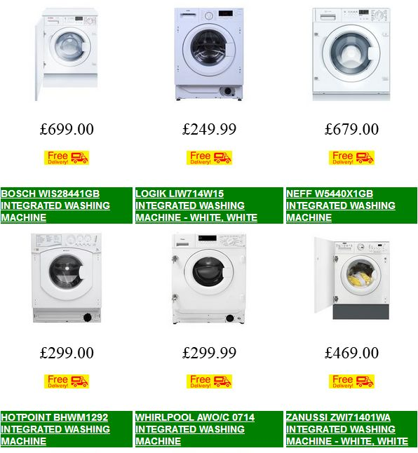 Explore the wide range of  Integrated Washing Machines and find the model that best suits your needs. Style