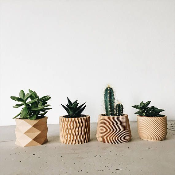 Set Of 4 Small Indoor Planters