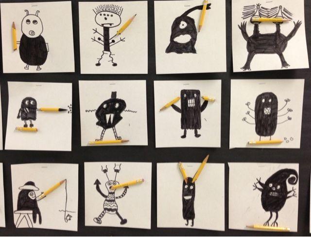 Apex Elementary Art: Pencil Monsters