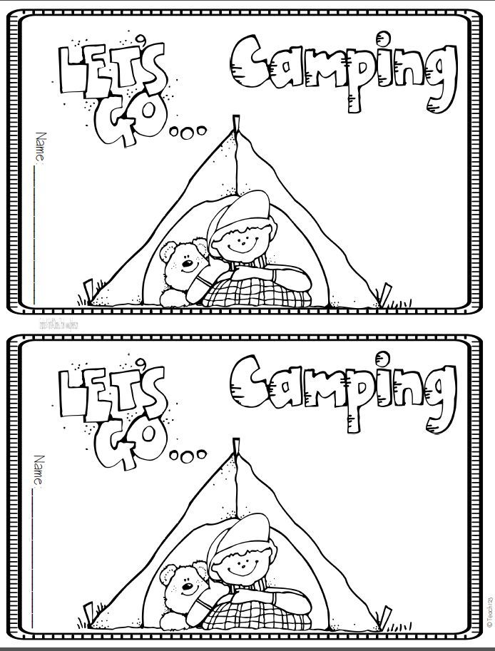 73 best camping coloring pages images on pinterest for Camping coloring pages for preschoolers