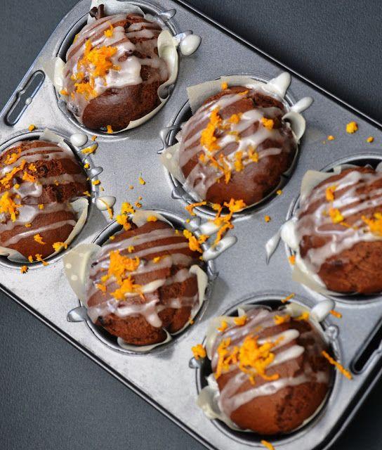 Muffins νηστήσιμα με ταχίνι και πορτοκάλι