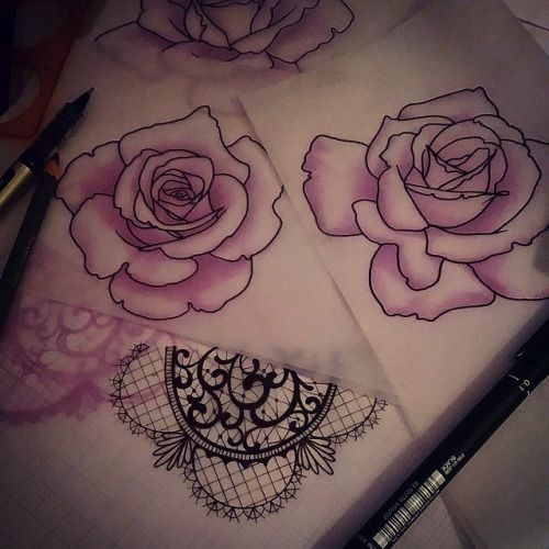 Rose Tattoos With Words Google Search: Neo Traditional Rose Outline - Google Search