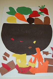 Stone Soup Craft...January is National Soup Month! Read Stone Soup and retell the story together while doing this craft.