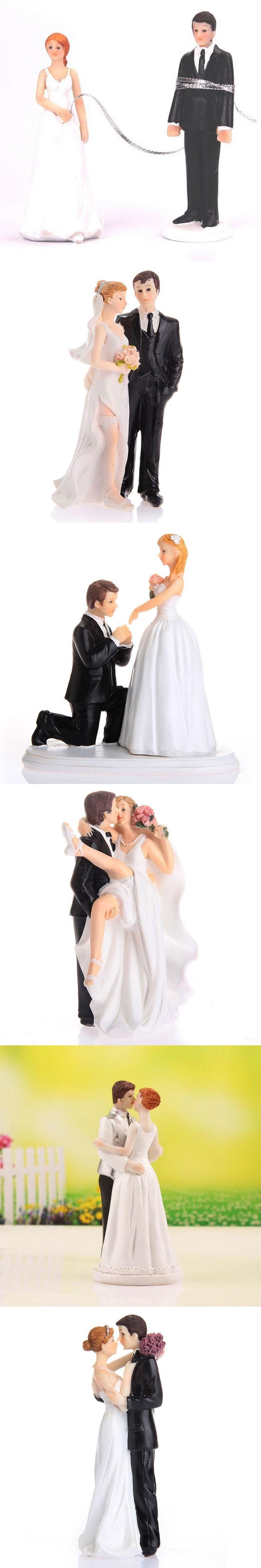 High Quality Synthetic Resin Wedding Couple Bride and Groom Wedding Cake Topper/Decoration Ornament Adorable Figurine Craft Gift