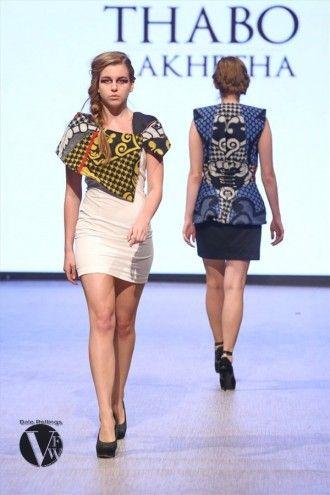 """Thabo Makhetha Designs's """"Kobo Ea Bohali"""" collection at Vancouver Fashion Week 2014."""