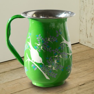 Eva Hand-Painted Jug Green, 24€, now featured on Fab.