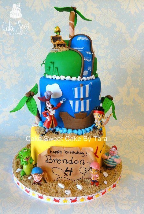 Jake and the never land pirates - by Cake Sweet Cake By Tara @ CakesDecor.com - cake decorating website