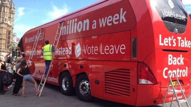 "Vote Leave bus 'rebranded' by Greenpeace. Vote Leave's EU referendum bus has been hired by Greenpeace, which plans to rebrand it a ""vehicle for truth""."