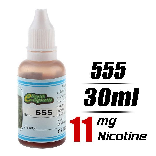 Quit Smoking 30ml Flavor strength Medium 11mg/g Electronic Cigarette Liquid (555) - Harmless top quality nicotine free e-cigarettes shipping...