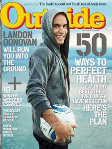 one of my shots made the parting shot on the last page outside magazine landon donovanoutside magazinesoccer playersat