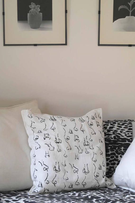 Pillow Case, unisex gift,Pillow Cover, Handprinted Cushion Cover, Art Pillow Case, Minimal Pillow Cover, Decorative Pillow, christmas gift This contemporary cushion cover fits perfectly to any interior, in a minimalist space as a stand alone accent yet it also works in a setting,as