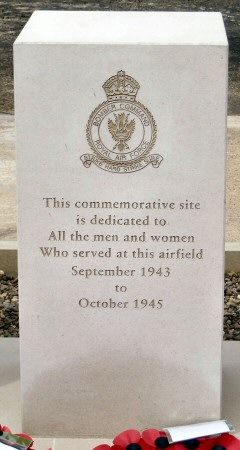 207 Squadron RAF History - Dedication and Unveiling of the new Airfield Memorial at the site of RAF Spilsby