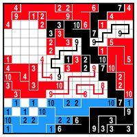 Color Link-a-Pix - step 6 (A)