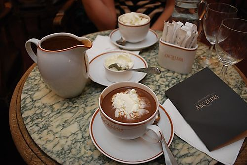 angelina's hot chocolate, paris
