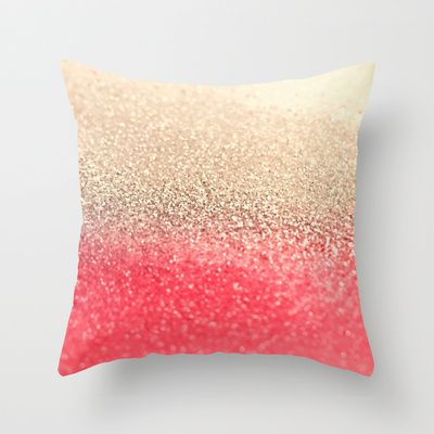 Love! GATSBY CORAL GOLD Throw Pillow by Monika Strigel - $20.00