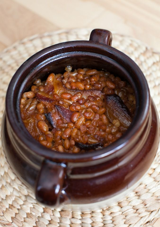 Maple Baked Beans with Double-Smoked Bacon