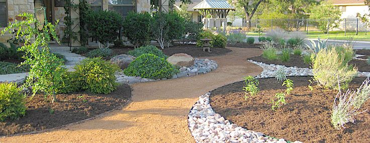 Austin Landscape Image...a path from driveway to back gate.