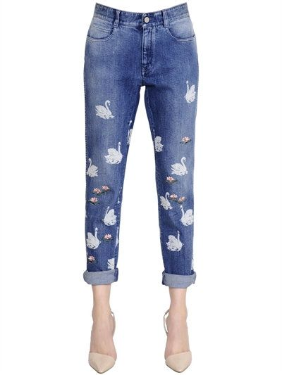 stella mccartney - women - jeans - skinny cotton stretch denim jeans