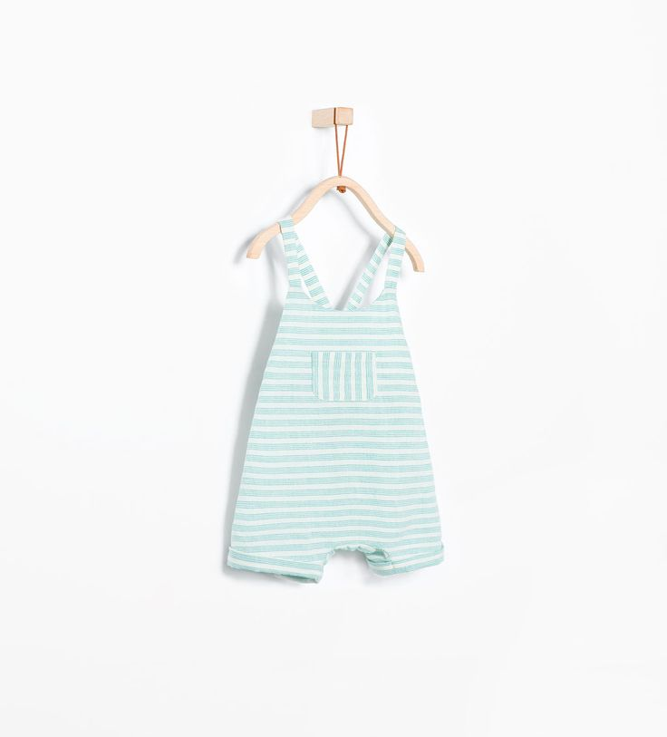 Striped romper suit with pocket-Outfits and romper suits-MINI | ZARA United States