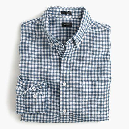 Irish linen shirt in délavé Antrim gingham