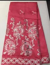 LJ1KLatest beliebte designs rosa pailletten stoff 5 Yards Afrikanisches Spitzegewebe hohe qualität indische seide George spitze stoff(China (Mainland))