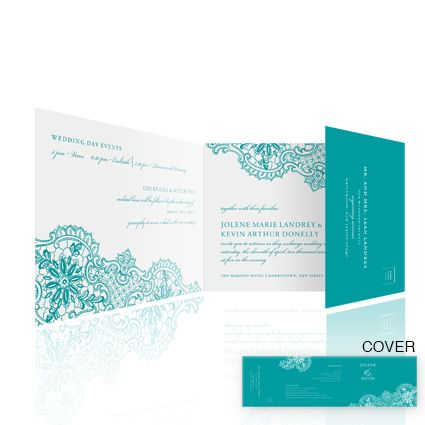 Lace In Teal Einvite Wedding Invitations All One