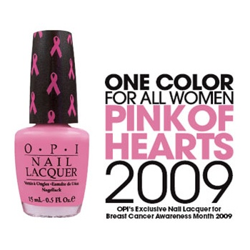 OPI Pink of Hearts- Breast Cancer Promotion