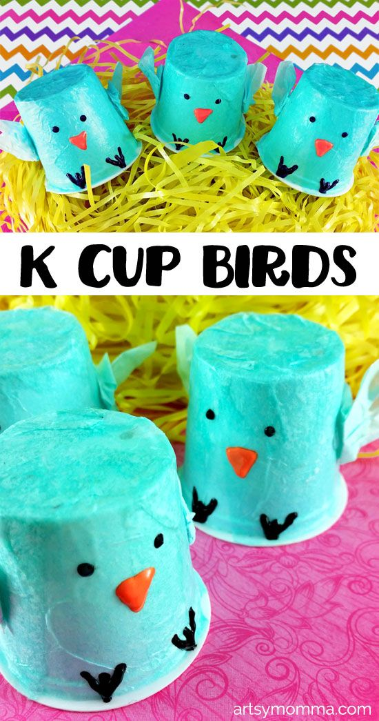 Recycled K Cup Birds - Easy Spring Craft for Kids using Tissue Paper