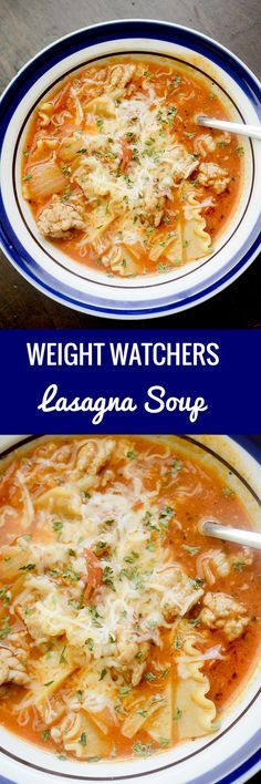 Lasagna Soup Weight Watchers - Recipe Diaries #Skinny4LifeEats™