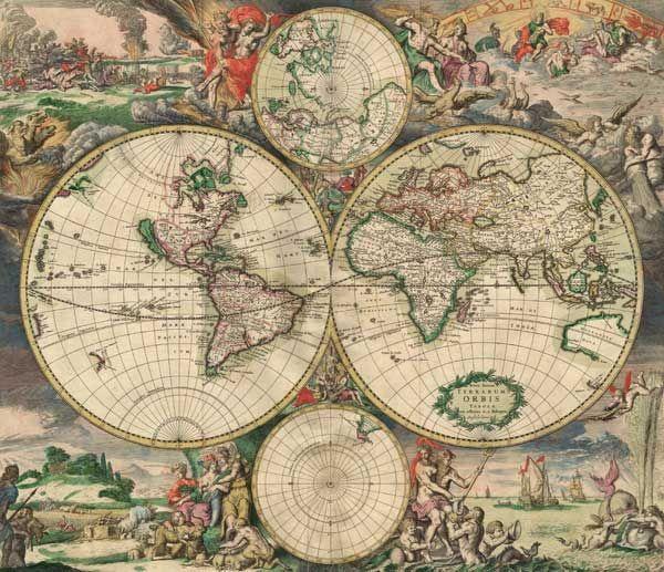 Старые карты - Terra Incognita. Сайт Рэдрика